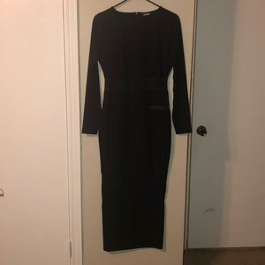 Missguided maxi mesh paneled maxi dress NWOT